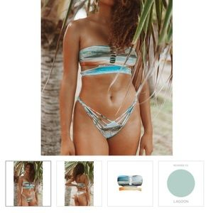 San Lorenzo bikini top and bottom - reversible
